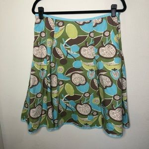 Boden Green and Blue Fruit Skirt Size 8